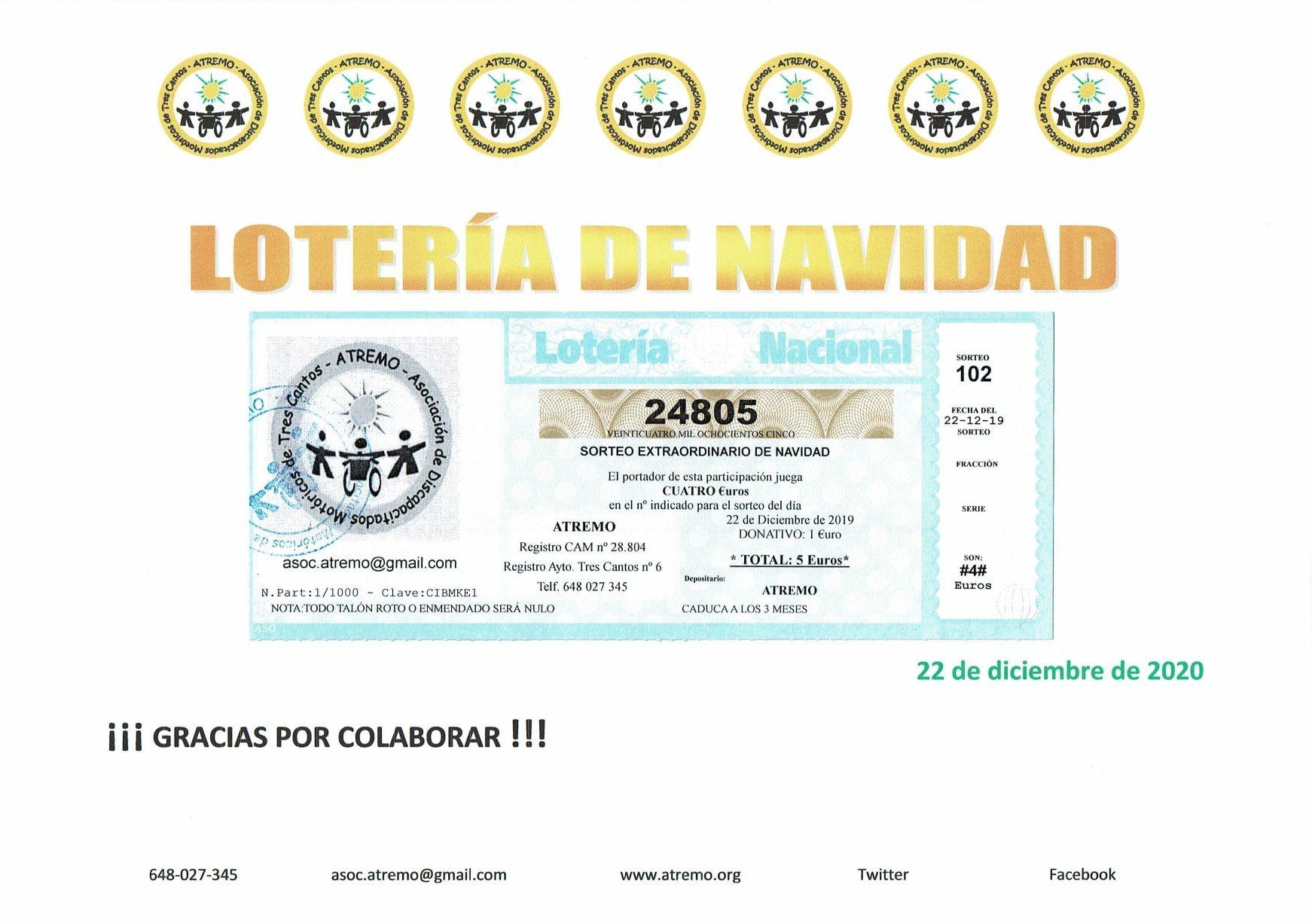 Atremo - Cartel loteria navidad 2019